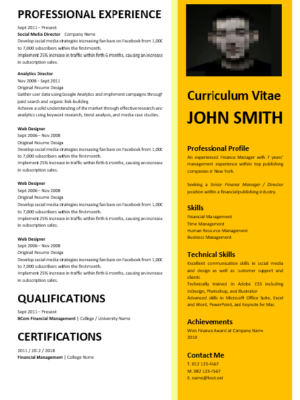 Marketing Manager Cover Letter - Professional CV Zone   Templates