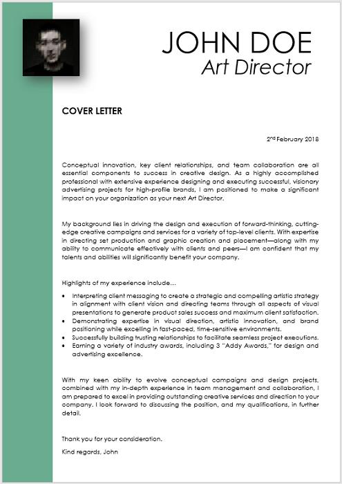 Modern 0007 Green Cover Letter